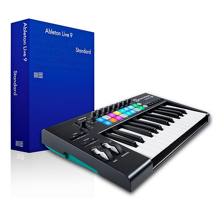 novation novation launchkey 25 midi controller with ableton live 9 5 standard music123. Black Bedroom Furniture Sets. Home Design Ideas