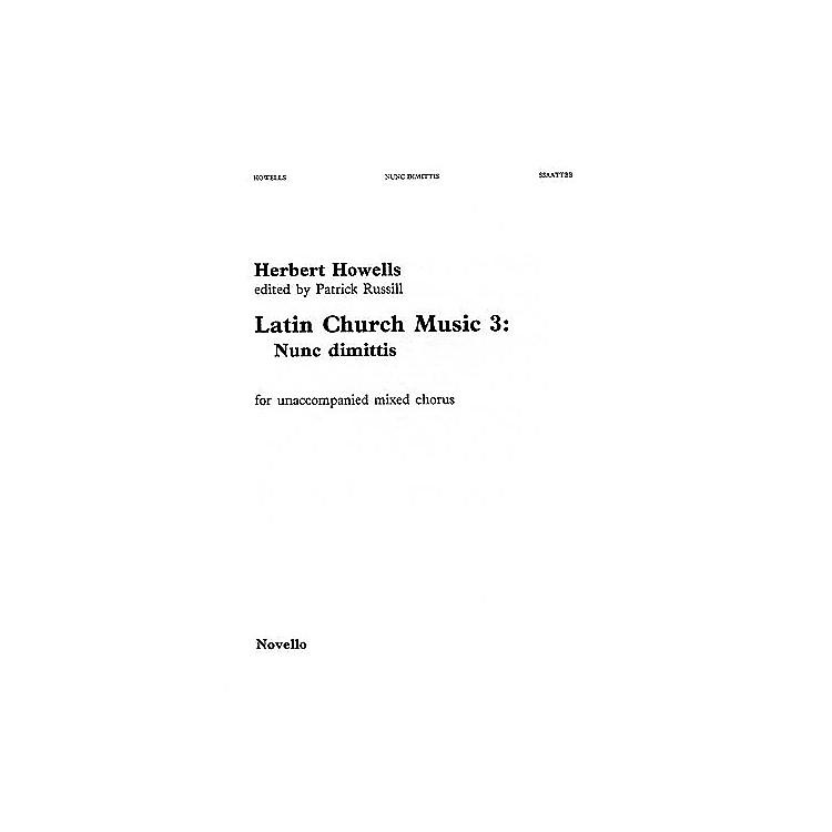NovelloNunc Dimittis (Latin Church Music - Vol. 3) SSAATTBB Composed by Herbert Howells
