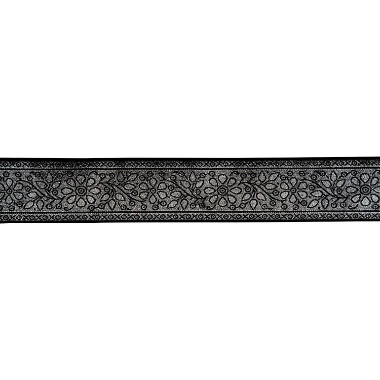 Fender Nylon Jacquard Guitar Strap Metallic Silver Vine 2 in.