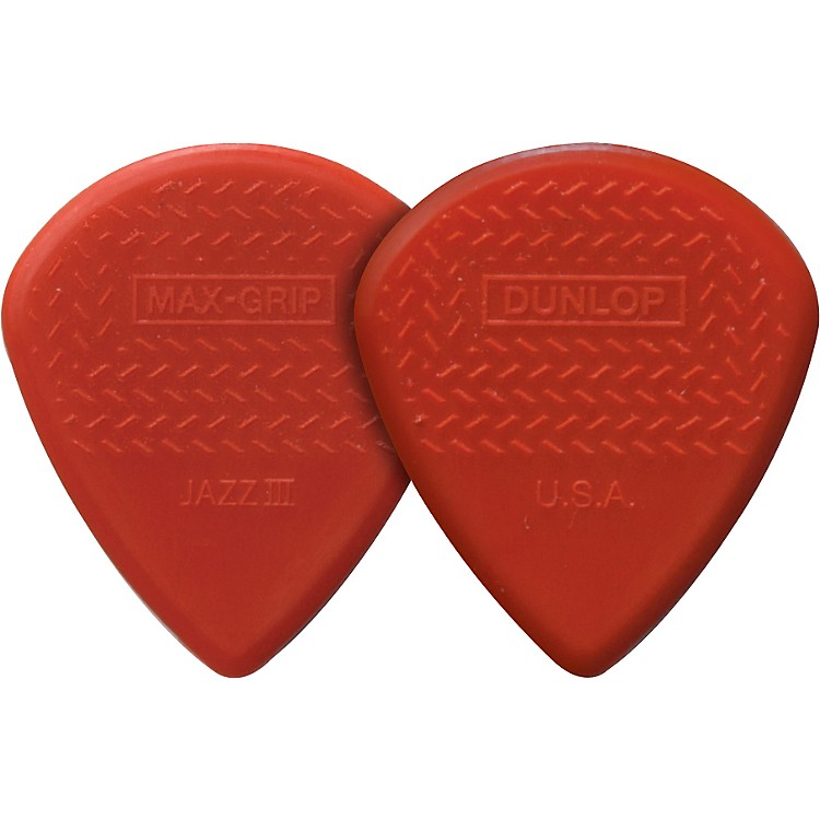 Dunlop Nylon Max Grip Jazz III Guitar Picks 6-Pack 1.38 mm
