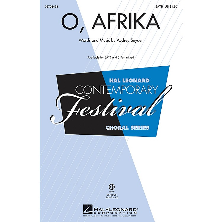 Hal LeonardO, Afrika 3-Part Mixed Composed by Audrey Snyder