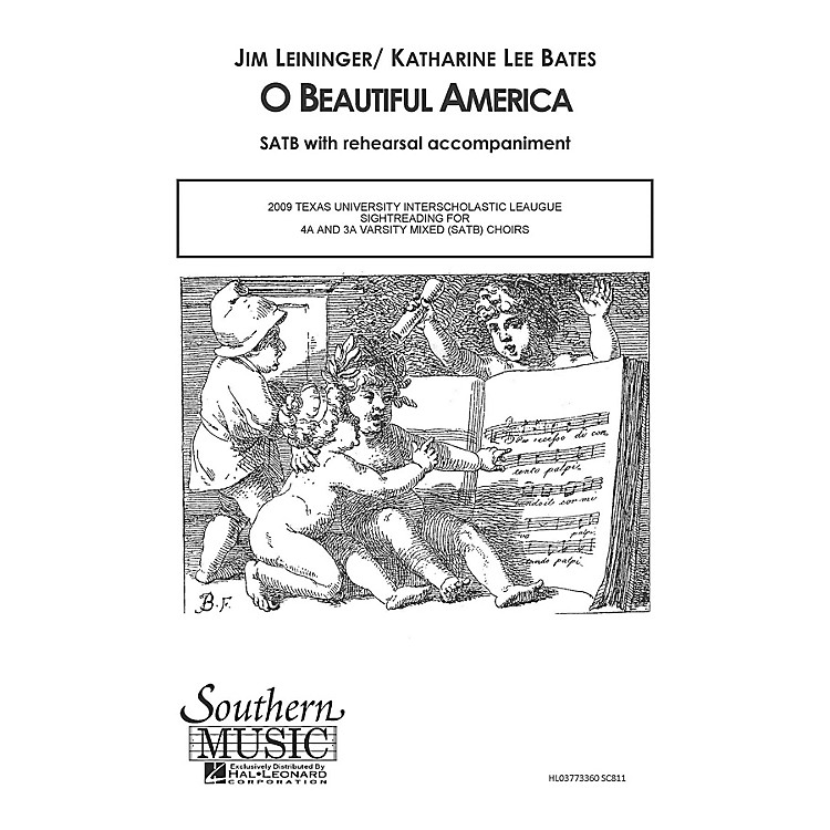 Hal LeonardO Beautiful America (Choral Music/Octavo Secular Satb) SATB Composed by Leininger, Jim