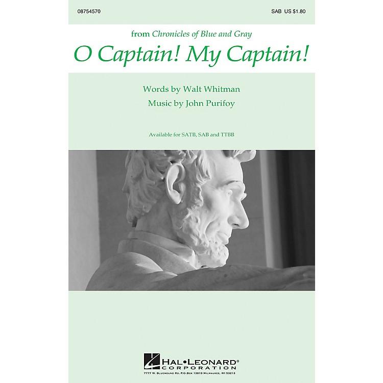 Hal LeonardO Captain! My Captain! SAB composed by John Purifoy