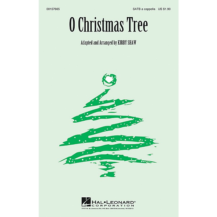 Hal Leonard O Christmas Tree SATB a cappella arranged by Kirby Shaw