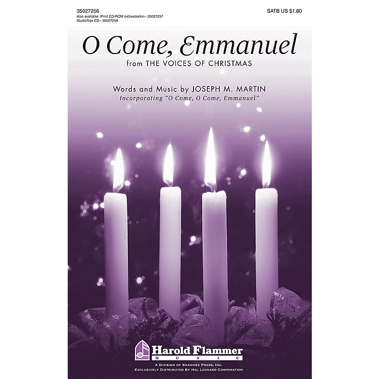 Shawnee PressO Come, Emmanuel (from The Voices of Christmas) SATB composed by Joseph M. Martin