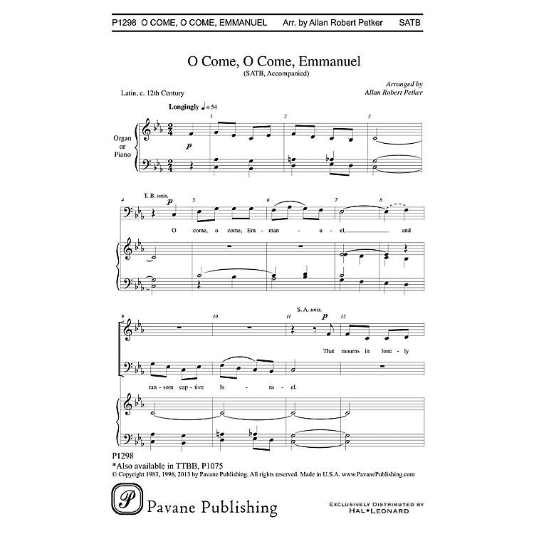 PavaneO Come, O Come Emmanuel SATB arranged by Allan Robert Petker