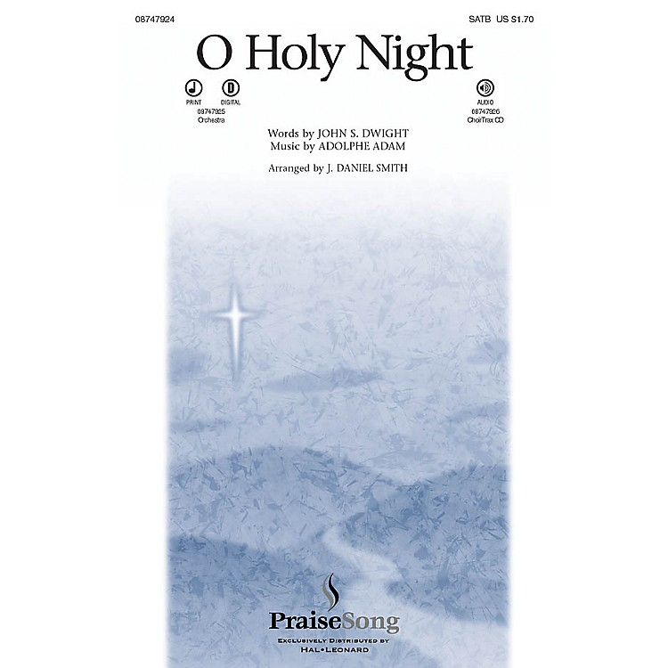 PraiseSongO Holy Night CHOIRTRAX CD Arranged by J. Daniel Smith
