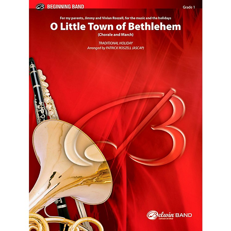 BELWIN O Little Town of Bethlehem Concert Band Grade 1 (Very Easy)