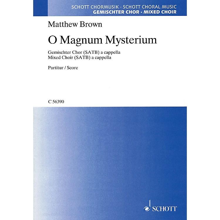SchottO Magnum Mysterium SATB a cappella Composed by Matthew Brown