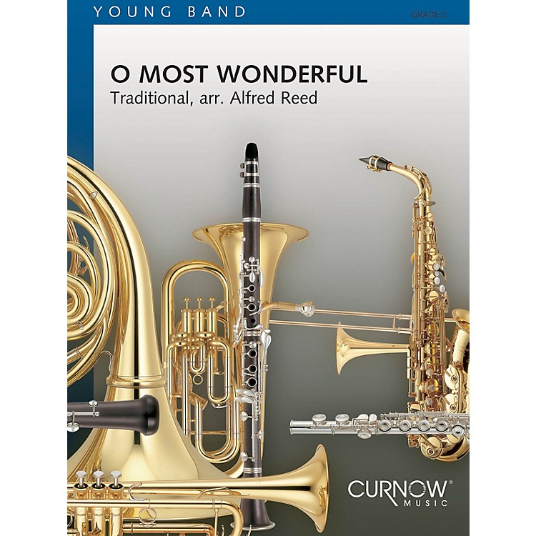 Curnow MusicO Most Wonderful (Grade 2 - Score Only) Concert Band Level 2 Arranged by Alfred Reed