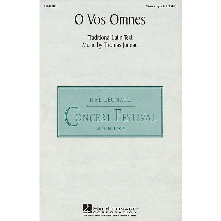 Hal LeonardO Vos Omnes SSAA composed by Thomas Juneau