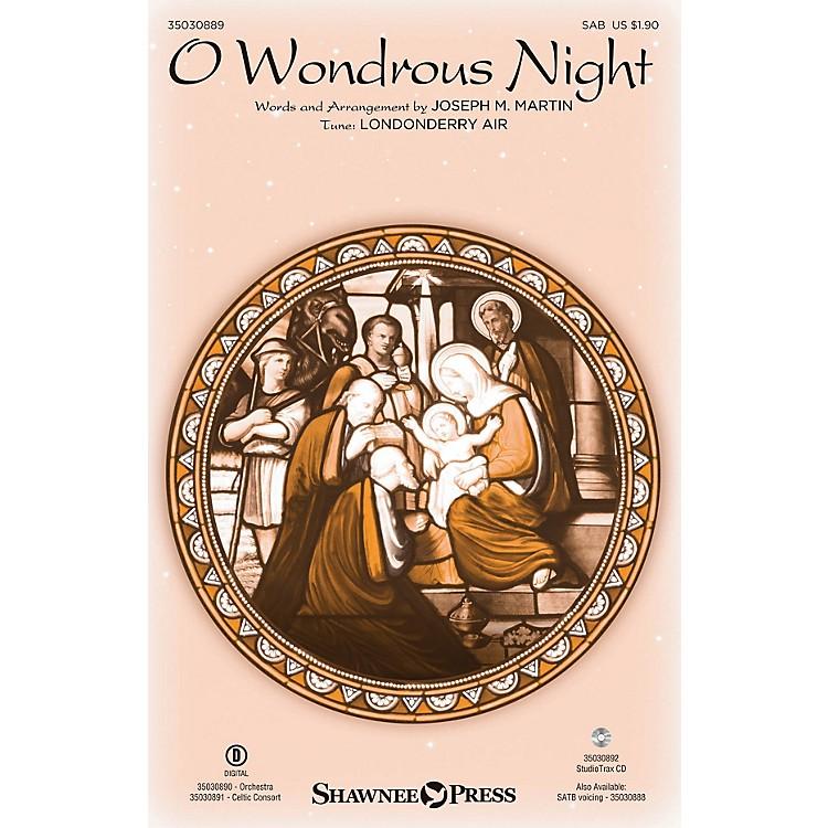 Shawnee PressO Wondrous Night SAB arranged by Joseph M. Martin