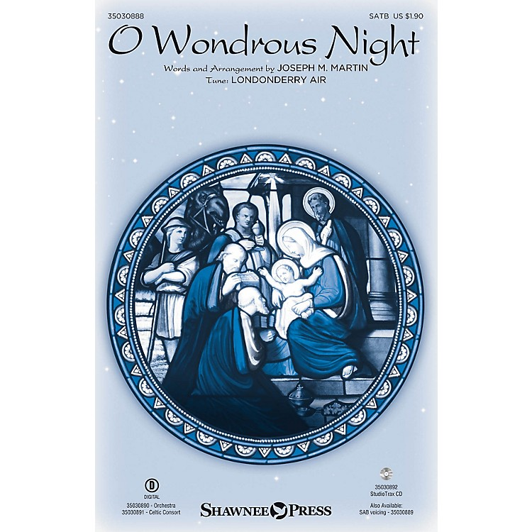 Shawnee Press O Wondrous Night SATB arranged by Joseph M. Martin