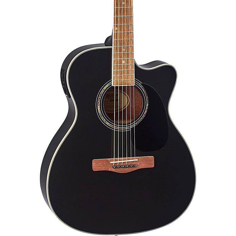 MitchellO120CEMB Orchestra Acoustic-Electric GuitarMetallic Black