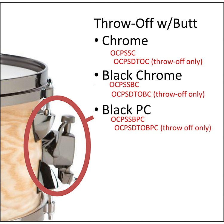 Orange County Drum & PercussionOCPSDTOBPC SNARE THROW OFF BLK PWD COAT