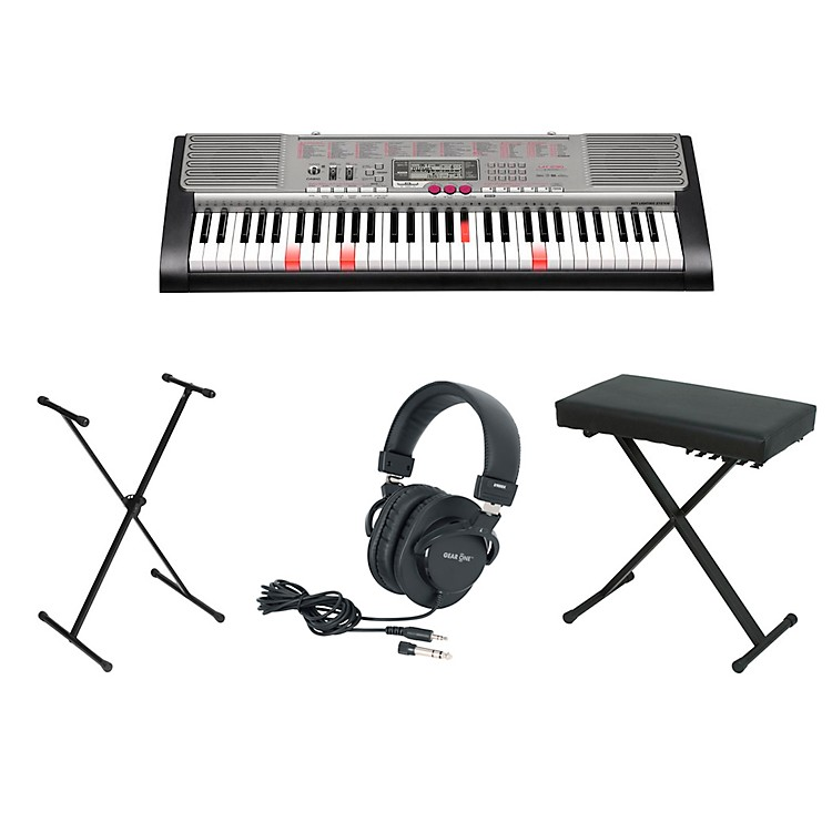 CasioOLD LK-230 61-Key Lighted-Note Keyboardwith Bench, Stand, & Heaphones