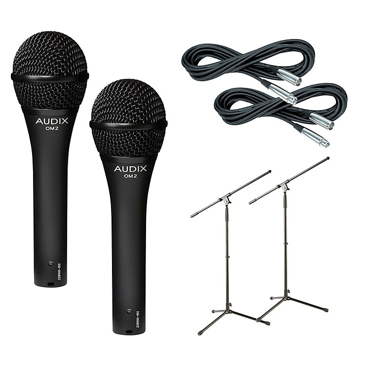 AudixOM-2 Mic with Cable and Stand 2 Pack