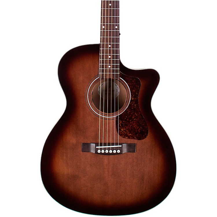 GuildOM-240CE Acoustic-Electric GuitarCharcoal Burst