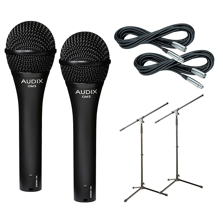 AudixOM-5 Mic with Cable and Stand 2 Pack