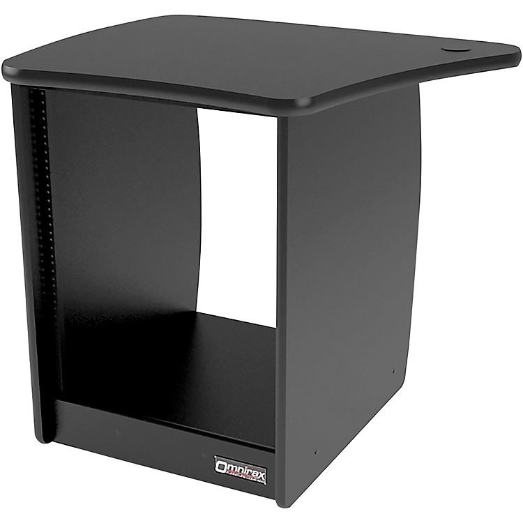 OmniraxOM13L 13-Rackspace Cabinet for the Left Side of the OmniDesk - Black