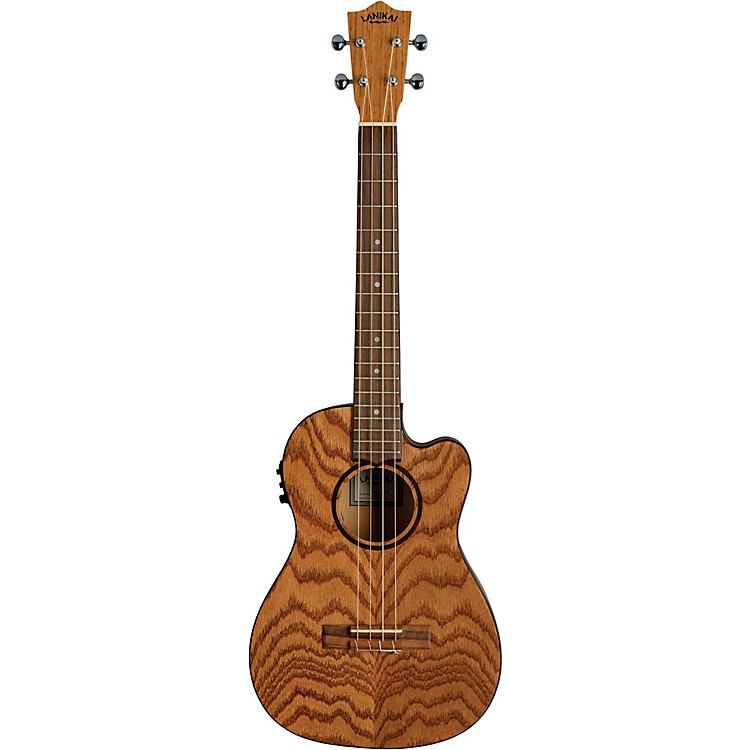 Lanikai Oak Acoustic-Electric Baritone Ukulele With Cutaway Natural