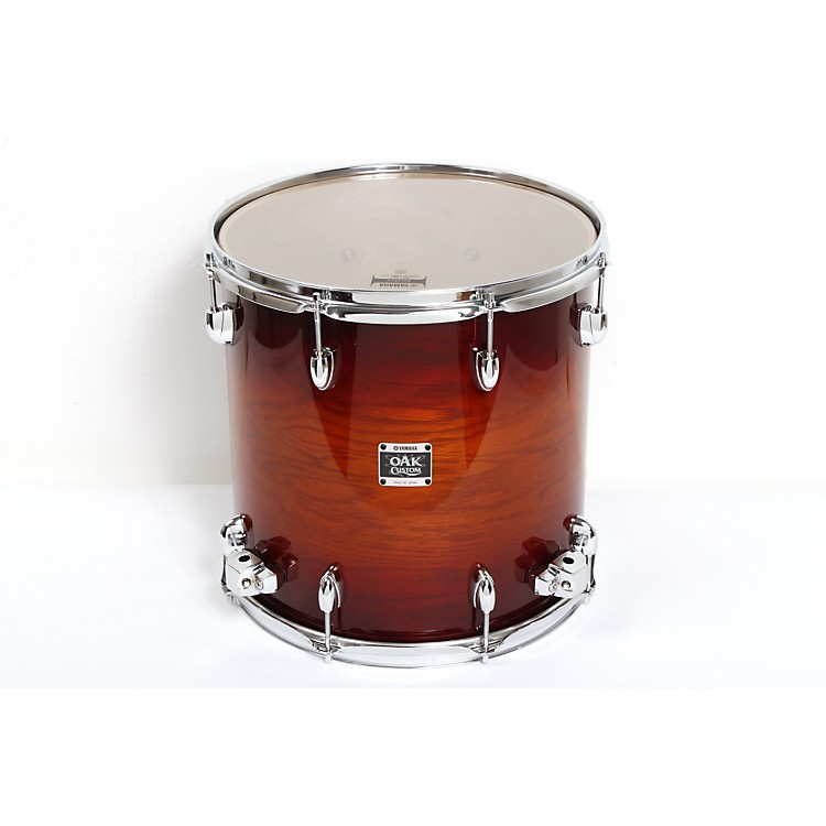 Yamaha Oak Custom Floor Tom Amber Sunburst 14 x 14 in.