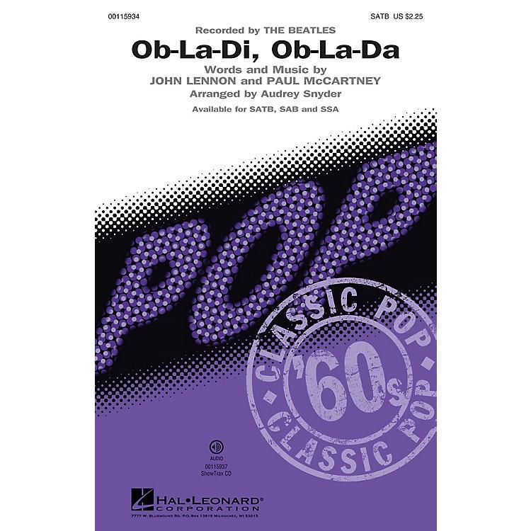 Hal LeonardOb-La-Di, Ob-La-Da (Recorded by THE BEATLES SAB) SAB by The Beatles Arranged by Audrey Snyder