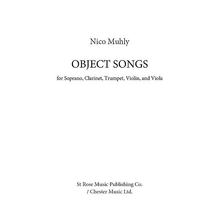 St. Rose Music Publishing Co.Object Songs Music Sales America Series Softcover by Nico Muhly