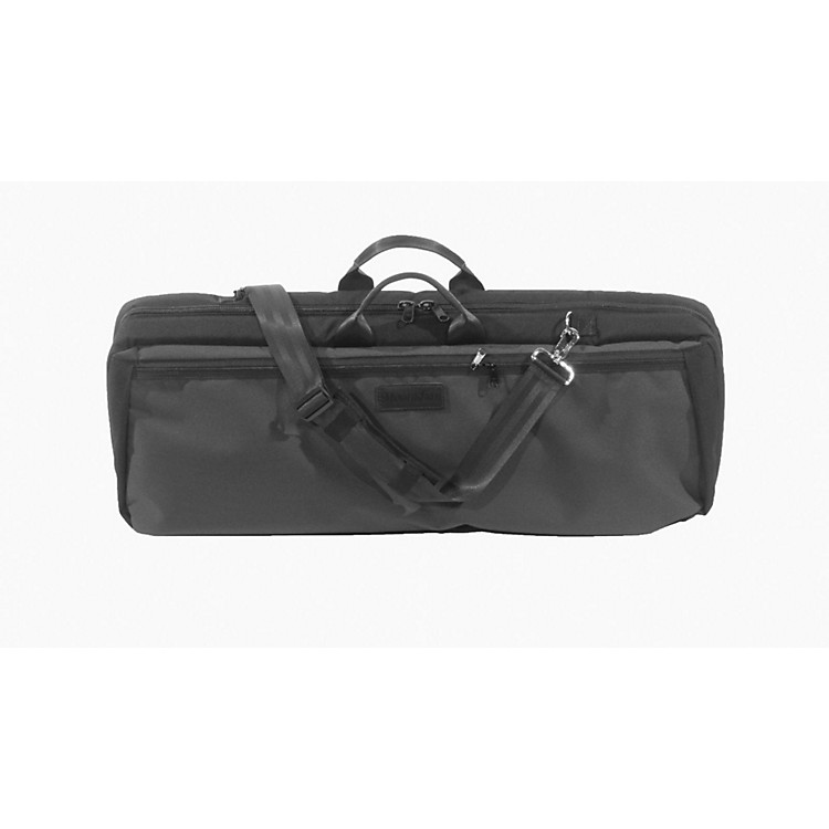 MooradianOblong Viola Case Slip-On CoverBlack with Backpack Straps