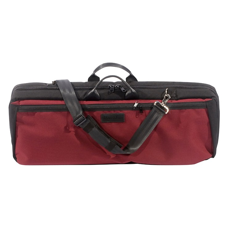 MooradianOblong Viola Case Slip-On CoverBurgundy with Backpack Straps