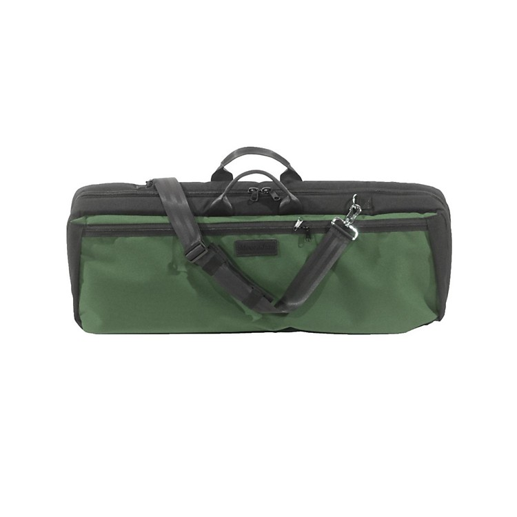 MooradianOblong Viola Case Slip-On CoverGreen with Shoulder Strap