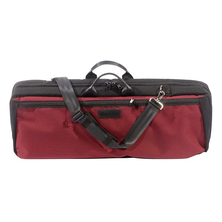 MooradianOblong Violin Case Slip-On CoverBurgundy with Backpack Straps