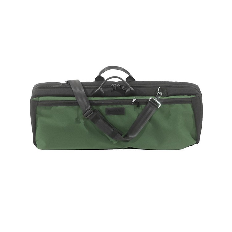 Mooradian Oblong Violin Case Slip-On Cover Green with Backpack Straps