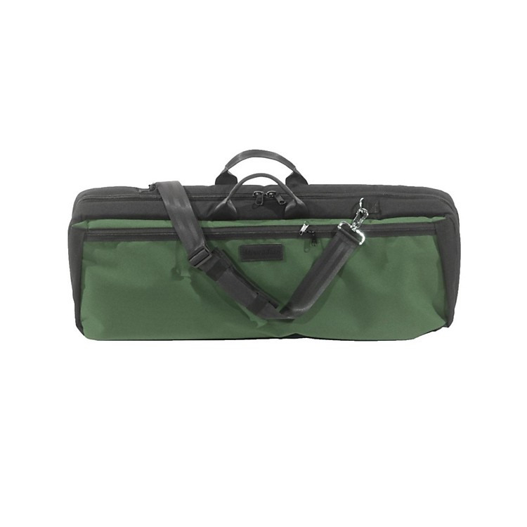 MooradianOblong Violin Case Slip-On CoverGreen with Shoulder Strap