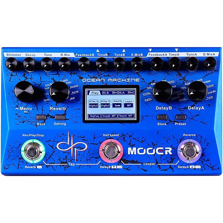 MooerOcean Machine Dual Delay Reverb and Looper Multi-Effects Pedal