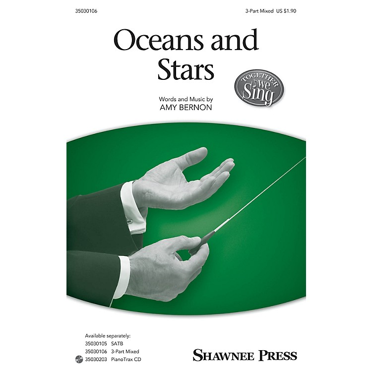 Shawnee PressOceans and Stars (Together We Sing Series) 3-Part Mixed composed by Amy Bernon