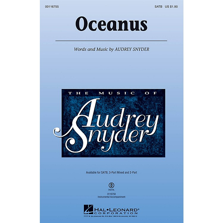 Hal Leonard Oceanus SATB composed by Audrey Snyder