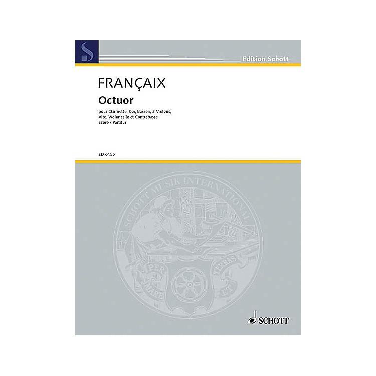 SchottOctet for Winds & Strings (Score) Schott Series by Jean Françaix
