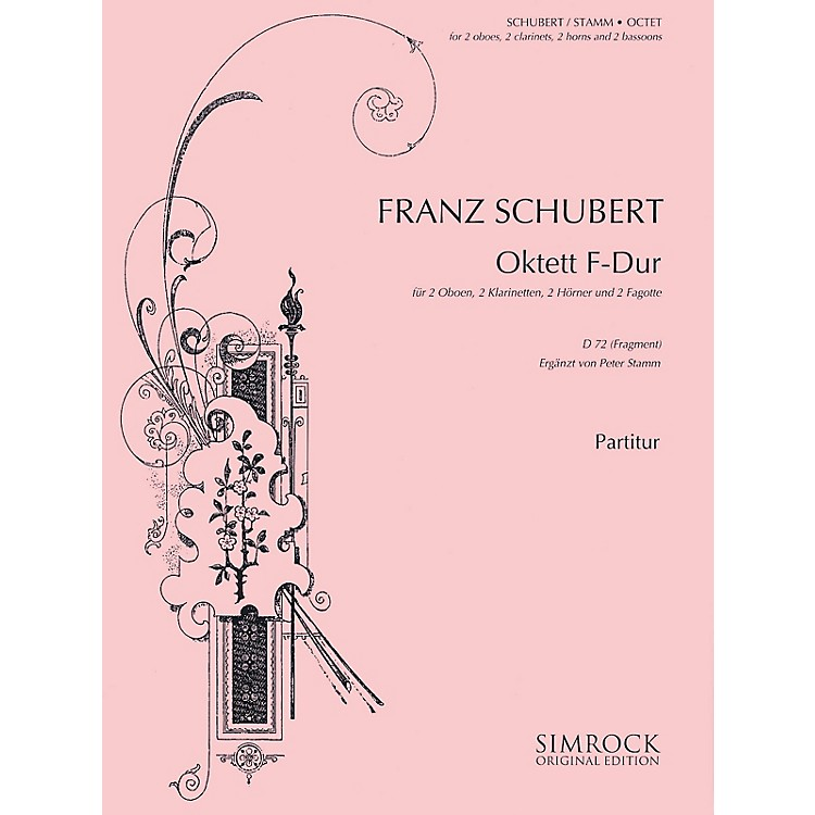 SimrockOctet in F Major, D72 (Fragment) (Score and Parts) Boosey & Hawkes Chamber Music Series by Franz Schubert