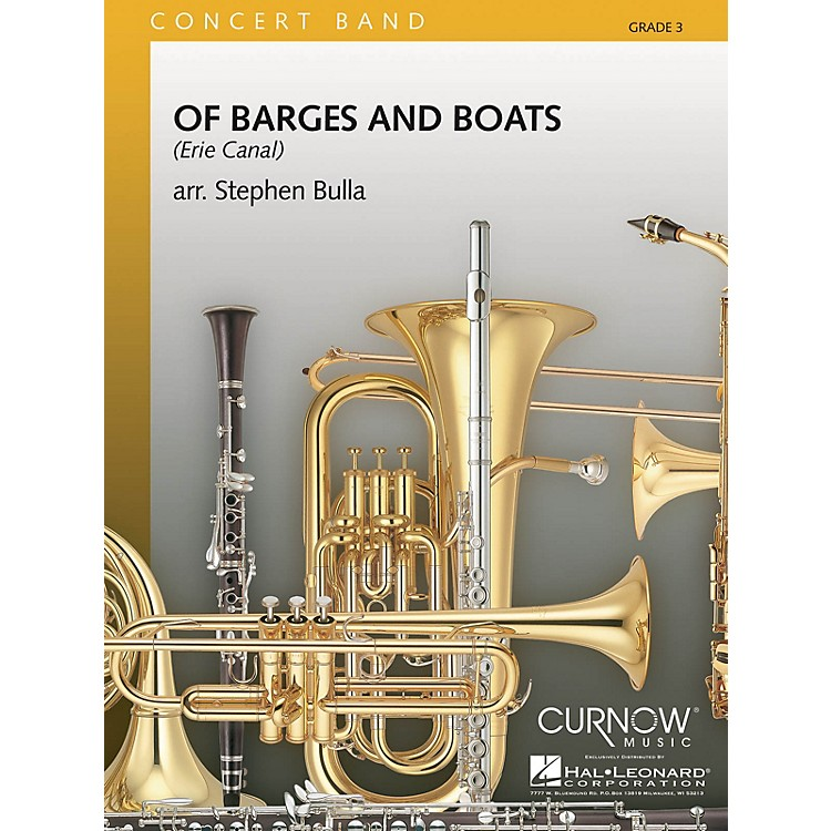 Curnow Music Of Barges and Boats (Grade 3 - Score Only) Concert Band Level 3 Arranged by Stephen Bulla