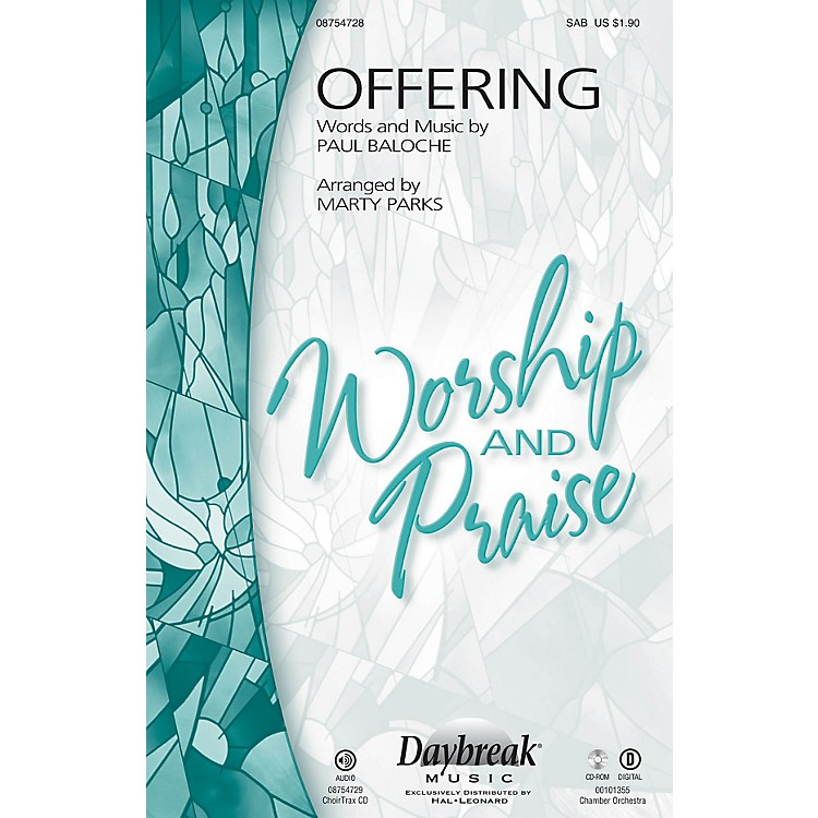 Daybreak MusicOffering SAB by Paul Baloche arranged by Marty Parks