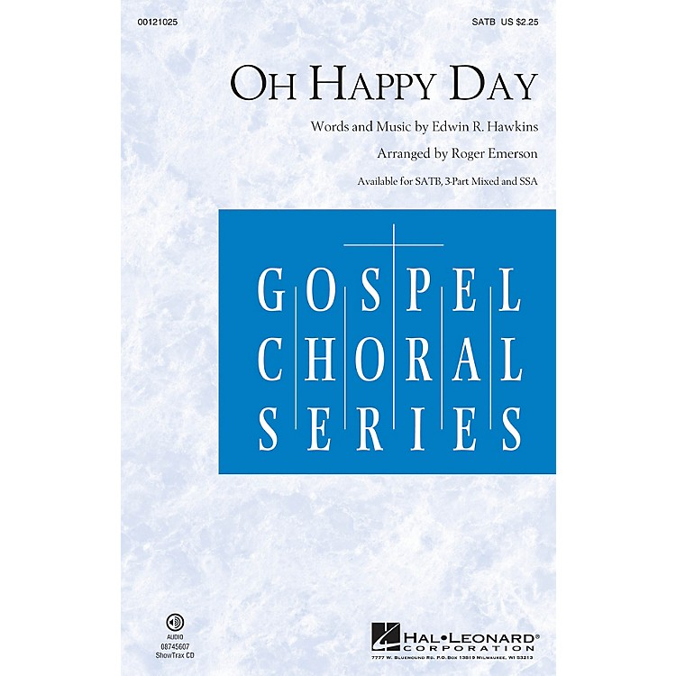 Hal LeonardOh Happy Day SATB arranged by Roger Emerson
