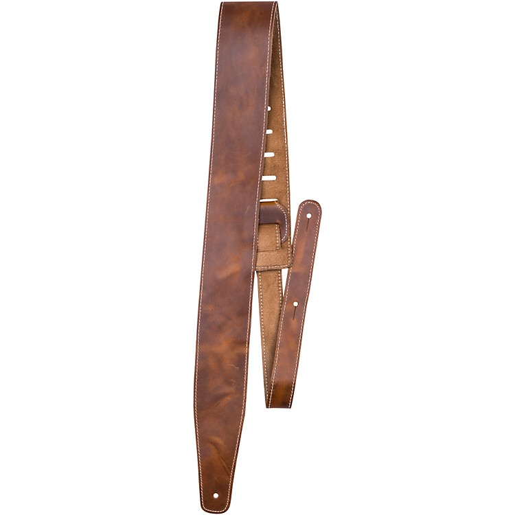 Perri'sOil Leather Guitar Strap With Contrast StitchingMango2.5 in.