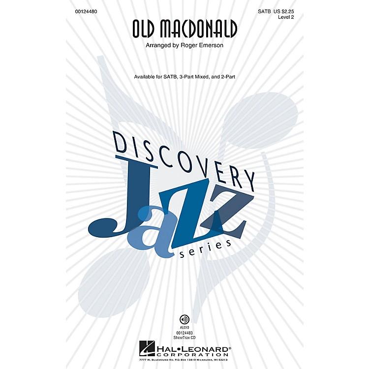 Hal LeonardOld MacDonald (Discovery Level 2) ShowTrax CD Arranged by Roger Emerson