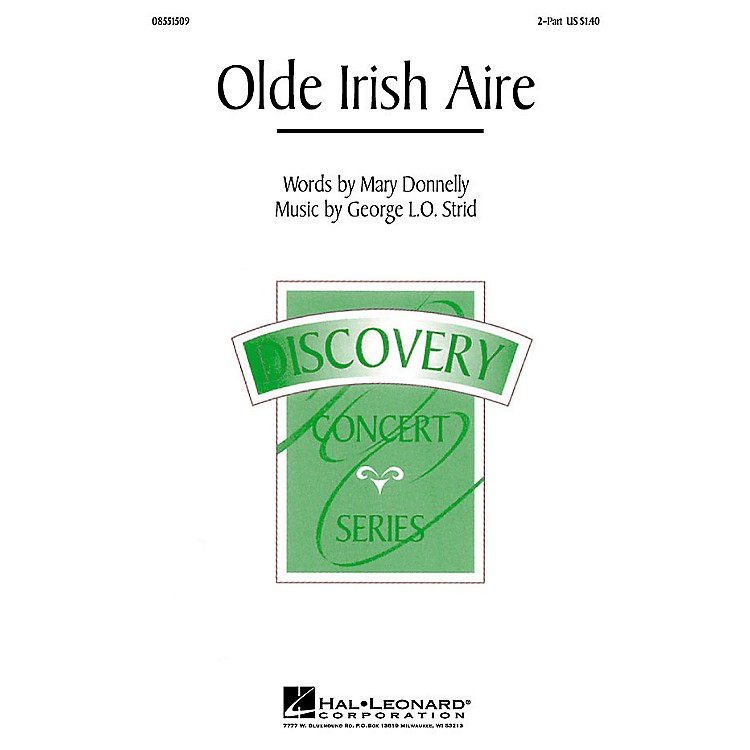 Hal LeonardOlde Irish Aire (2-Part and Piano) 2-Part composed by Mary Donnelly