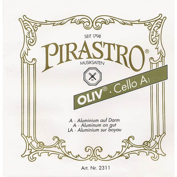 Pirastro Oliv Series Cello D String 4/4 - 26-1/2 Gauge
