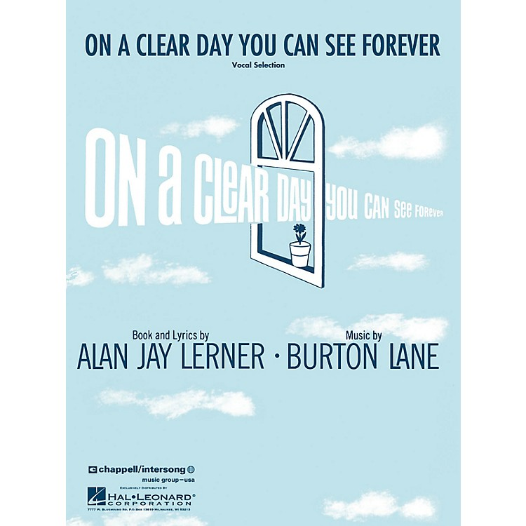 Hal Leonard On a Clear Day You Can See Forever Vocal Selections Series