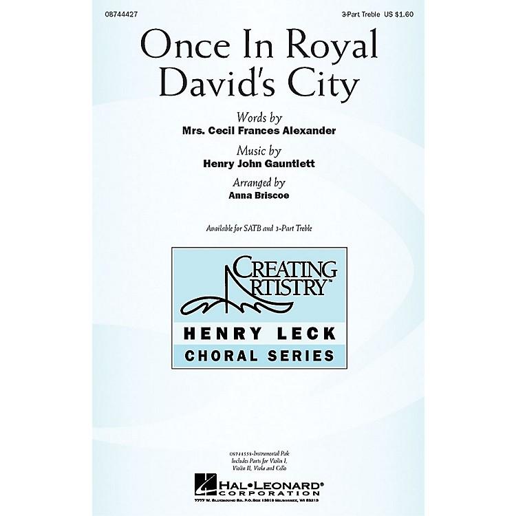 Hal LeonardOnce in Royal David's City IPAKS Arranged by Anna Briscoe