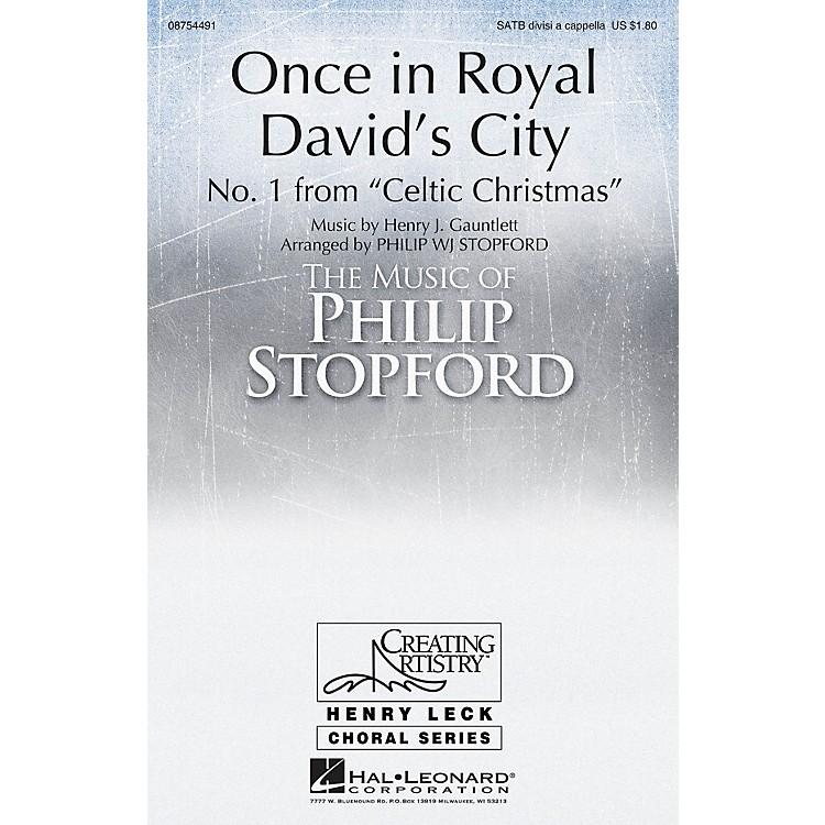 Hal LeonardOnce in Royal David's City SATB Divisi arranged by Philip Stopford