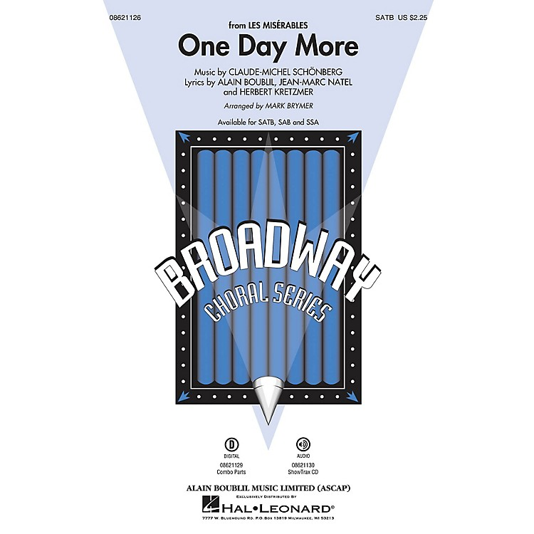 Hal LeonardOne Day More (from Les Misérables) ShowTrax CD Arranged by Mark Brymer